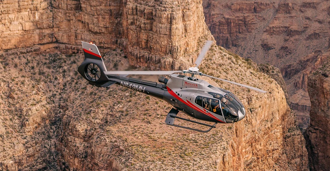 Maverick's most popular Grand Canyon landing tour with Las Vegas Strip return