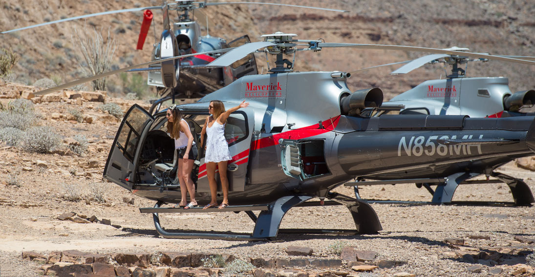 Enjoy champagne toast at our private landing 3,500 feet below the canyon's rim