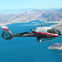 Flying over Lake Mead.