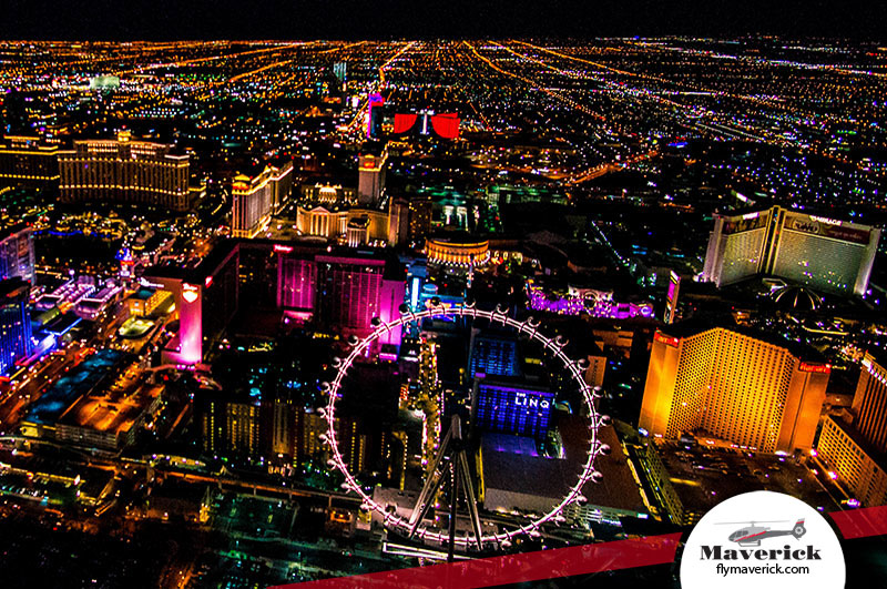 Charming The Glowing Colors Of The Vegas Strip On A City Air Tour Pictures