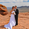 Red rock formations provide the perfect backdrop to your wedding day