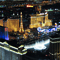 Night views of the Vegas Strip