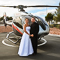 Save the date for a Maverick Helicopters Twilight wedding
