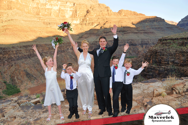 Grand Canyon Helicopter Wedding In Las Vegas