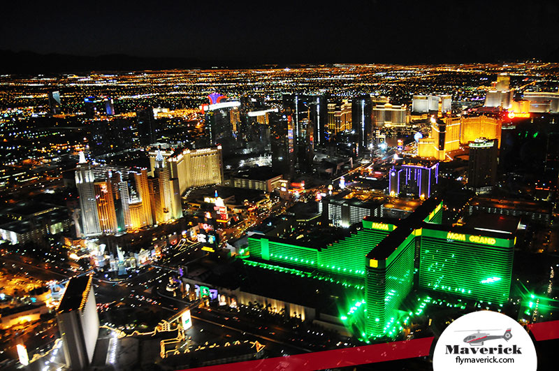 Love is in the Air - a view of the Strip aboard a Maverick helicopter