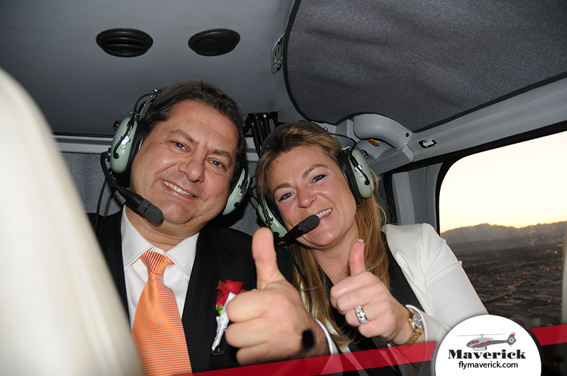A Moment to Remember - a newly engaged couple aboard a Maverick helicopter