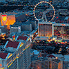 Twilight Views From a Vegas Helicopter Wedding.