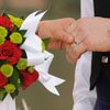 Beautiful bouquet of roses and matching boutonniere