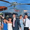 All smiles for their perfect destination wedding with Maverick Helicopters.