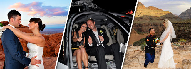 Plan your destination wedding with Maverick Helicopters to the Grand Canyon, Valley of Fire or Las Vegas