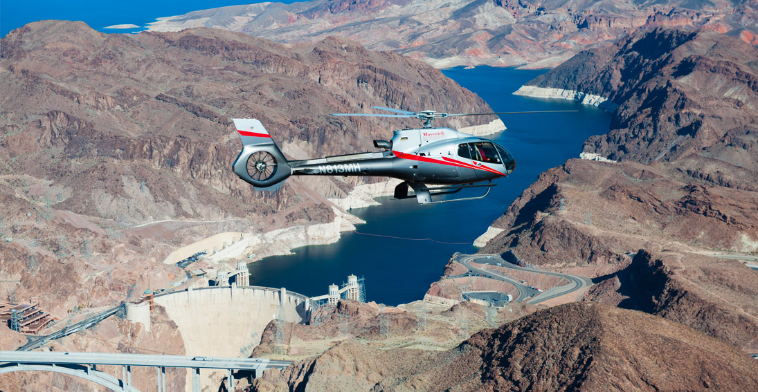 Enjoy the views of the marvel Hoover Dam and Lake Mead on your private helicopter flight