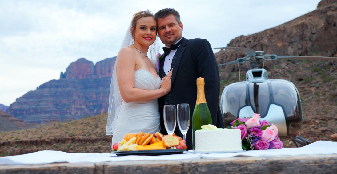 Celebrate your wedding inside the heart of the Grand Canyon with Maverick Helicopters