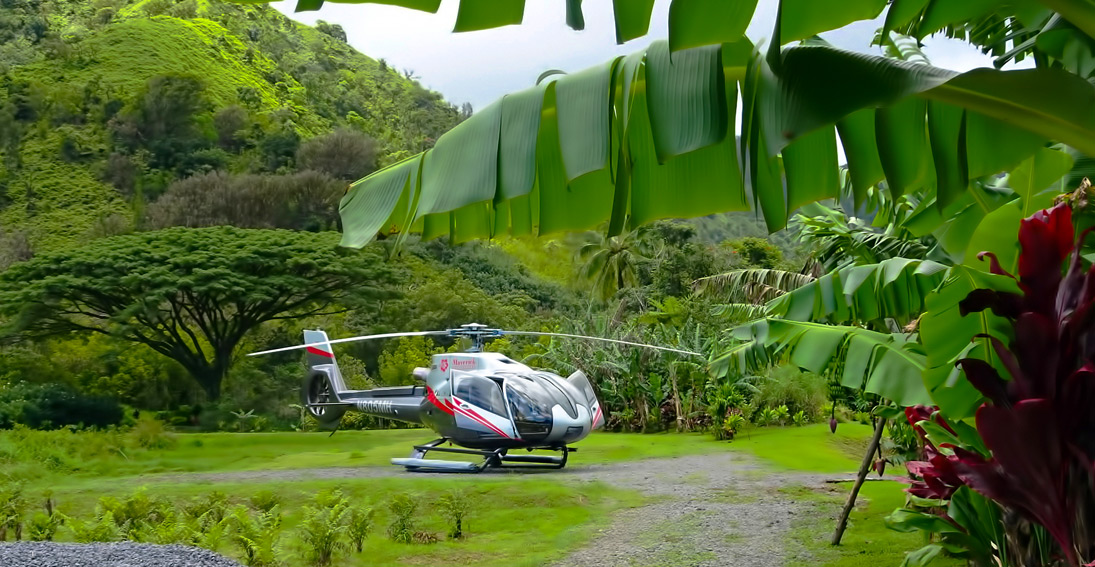 "On the Hana Rainforest wedding you will say your ""I do's"" at our private landing spot"
