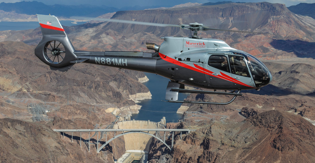 Fly over the man made marvel of the Hoover dam on your helicopter flight