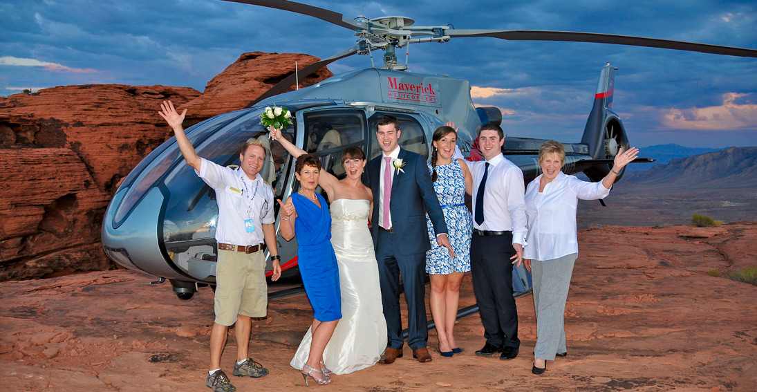 Unique location and wedding ceremony with Maverick Helicopters