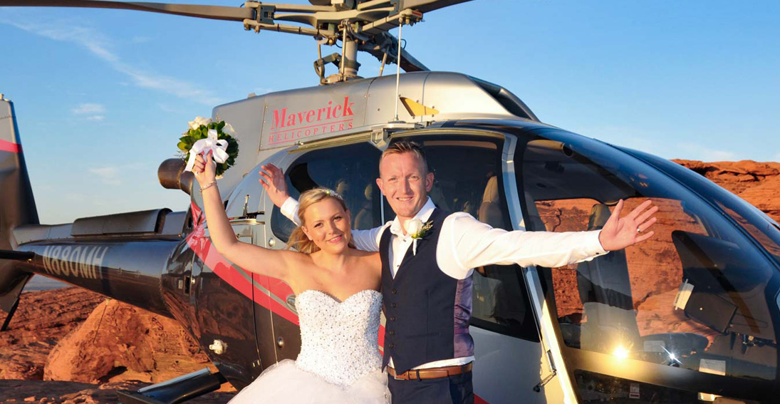 Make your wedding day a memory of a lifetime at the Valley for Fire and helicopter flight