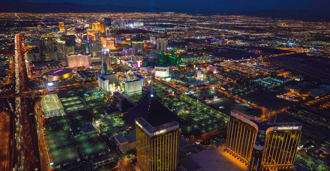 Experience extended flight time over the neon lights of the Las Vegas